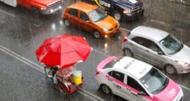 Cae lluvia intensa en el sur y el centro de la Ciudad de México