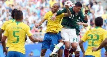 """México 0-2 Brasil y se termina el sueño del """"quinto partido"""""""
