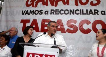 Perfila conteo en Tabasco a Adán López como ganador de elección