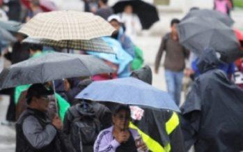 Pronostican lluvias en la mayor parte del país