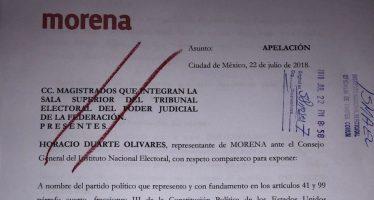 Morena presenta queja ante TEPJF por multa de fideicomiso