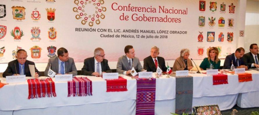 Gobernadores coinciden en disposición al diálogo con AMLO