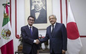 López Obrador y ministro de Japón abordaron comercio y protección civil