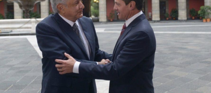 Peña Nieto a reitera López Obrador disposición y apoyo para una transición eficiente