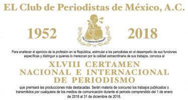 Convocatoria al XLVIII Certamen Nacional e Internacional de Periodismo