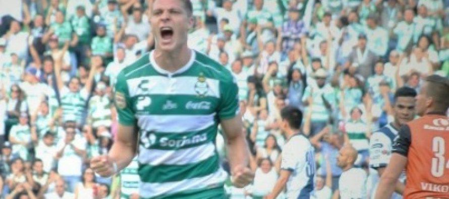 Campeón Santos Laguna derrota con facilidad 2-0 al Puebla en Liga MX
