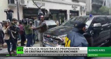 Comienzan los allanamientos en las viviendas de Cristina Fernández de Kirchner