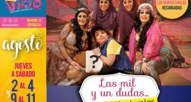 Cartelera del 02 al 04 de agosto en el Teatro Bar El Vicio