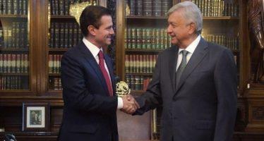 Peña Nieto ofrece a López Obrador apoyo para iniciar gestión exitosa