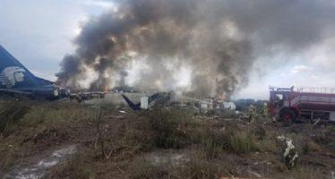 VIDEO: El instante de la caída del avión de Aeroméxico, grabado por un pasajero