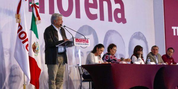 López Obrador en Congreso de Morena. (@RegeneraciónMx)