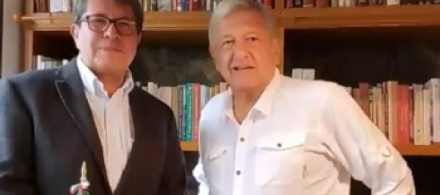 López Obrador dialoga con Monreal; reitera respeto a división de poderes