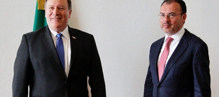 Pompeo y Videgaray dialogan por teléfono sobre migración y seguridad