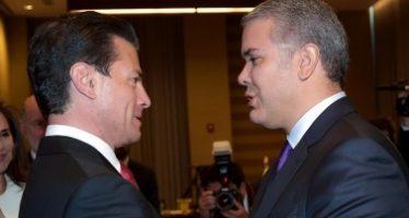 Peña Nieto se reúne con presidente electo de Colombia, Iván Duque