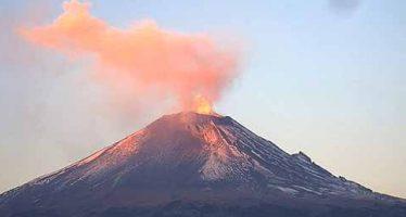 Popocatépetl registra 62 exhalaciones de baja intensidad