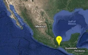 Se registra sismo de 4.2 al oeste de de Matías Romero, Oaxaca