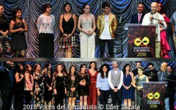 """""""La Divina Ilusión"""" y """"El Hilador"""" empatan como mejor obra en la segunda edición de los Premios del Público Cartelera 2018"""