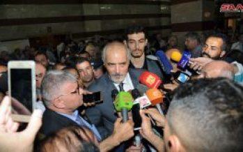 Bloqueos económicos impiden el regreso de los sirios desplazados: Jaafari