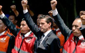 Agradece Peña Nieto a la población unidad durante sismos