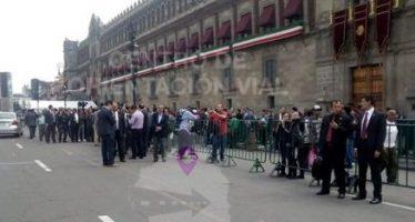 Alertan de complicaciones viales por evento en Palacio Nacional