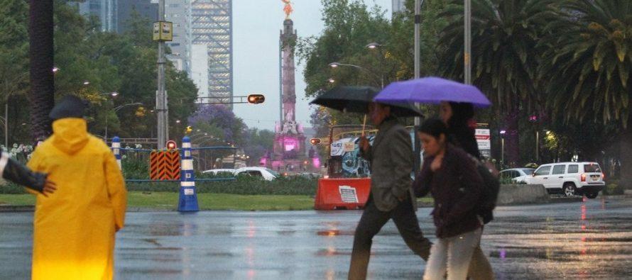 Ciudad de México registrará lluvias e intervalos de chubascos