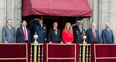 Concluye sin novedad desfile de Fuerzas Armadas y Policía Federal