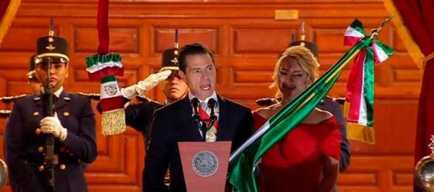 Da Peña Nieto último Grito de Independencia de su gobierno