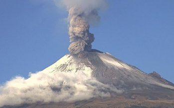 Emite Popocatépetl nueva columna eruptiva de ceniza de 2.4 kilómetros