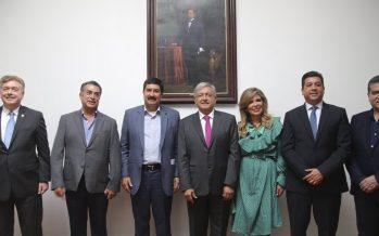 Gobernadores de frontera norte respaldan propuestas de López Obrador