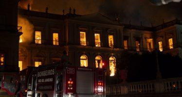 UNESCO ofrece ayuda a museo incendiado en Río de Janeiro
