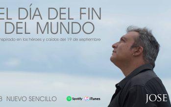 Jose Riaza le canta a héroes y caídos de México por el 19S
