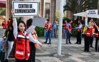 México fortalece cultura de la prevención con macrosimulacro