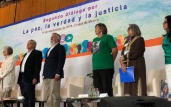 Piden justicia en Segundo Diálogo por la Paz que encabeza López Obrador