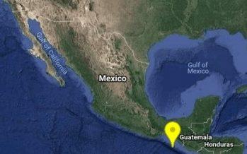 Reportan sismo de 4.0 al suroeste de Mapastepec, Chiapas