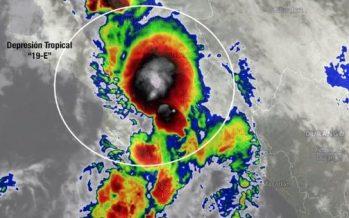 Se forma inusual depresión tropical en el Golfo de California