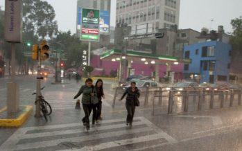 Valle de México registrará por la tarde lluvias de corta duración
