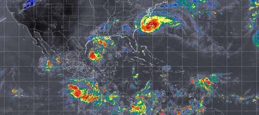 Zona de baja presión en el Golfo de México, con potencial para desarrollo ciclónico